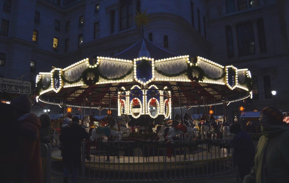 Christmas Village Carosel